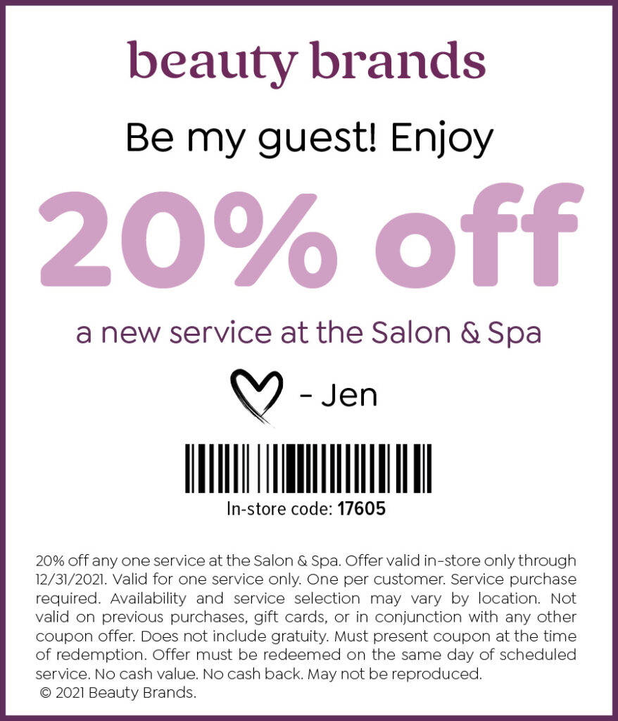 Beauty Brands Salon Spa Coupon