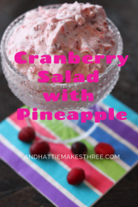 Cranberry Salad with Pineapple