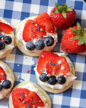 Festive Fruit Pizza Cookies