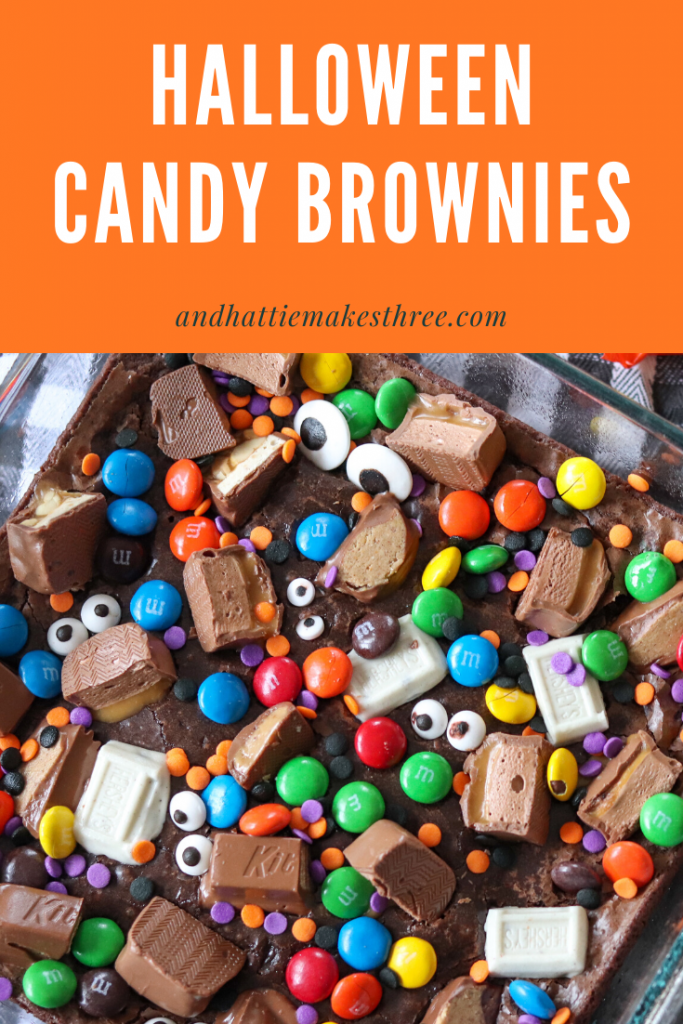 Fun Halloween Candy Brownies