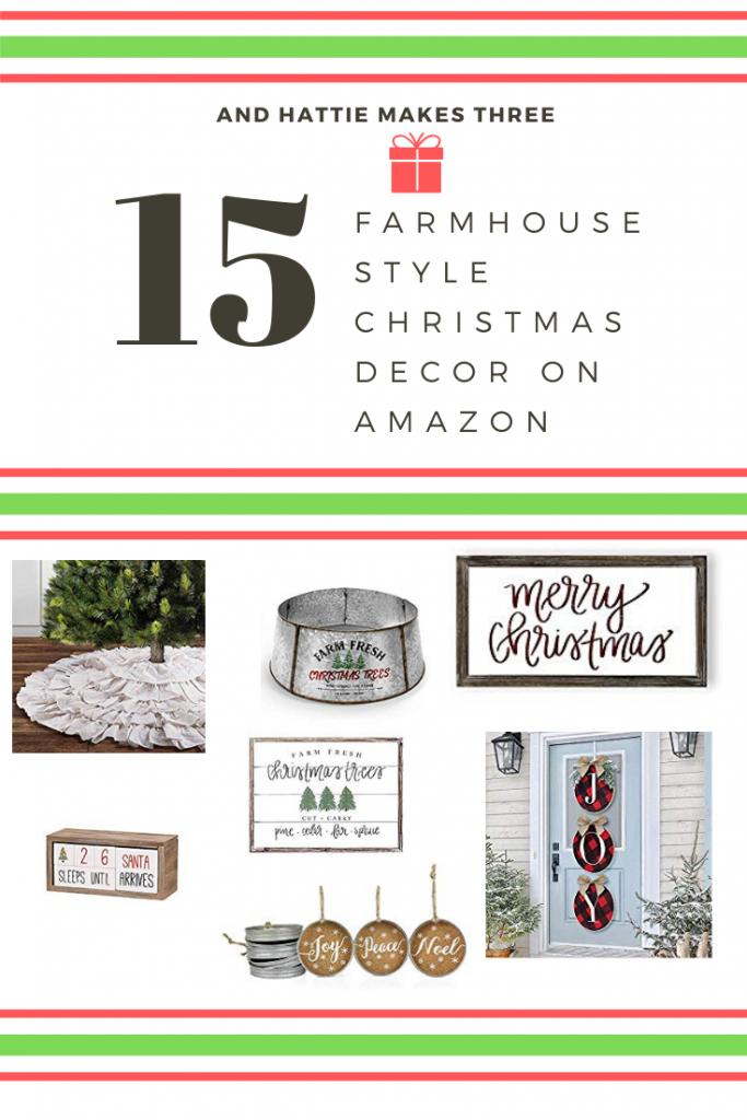 Farmhouse style Christmas decor on Amazon