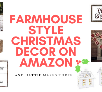 Farmhouse style Christmas decor on Amazon header