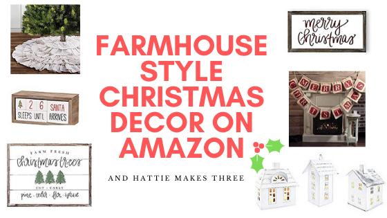 Farmhouse style Christmas decor on Amazon header