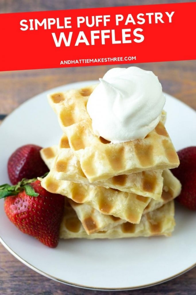 Simple Puff Pastry Waffles 1